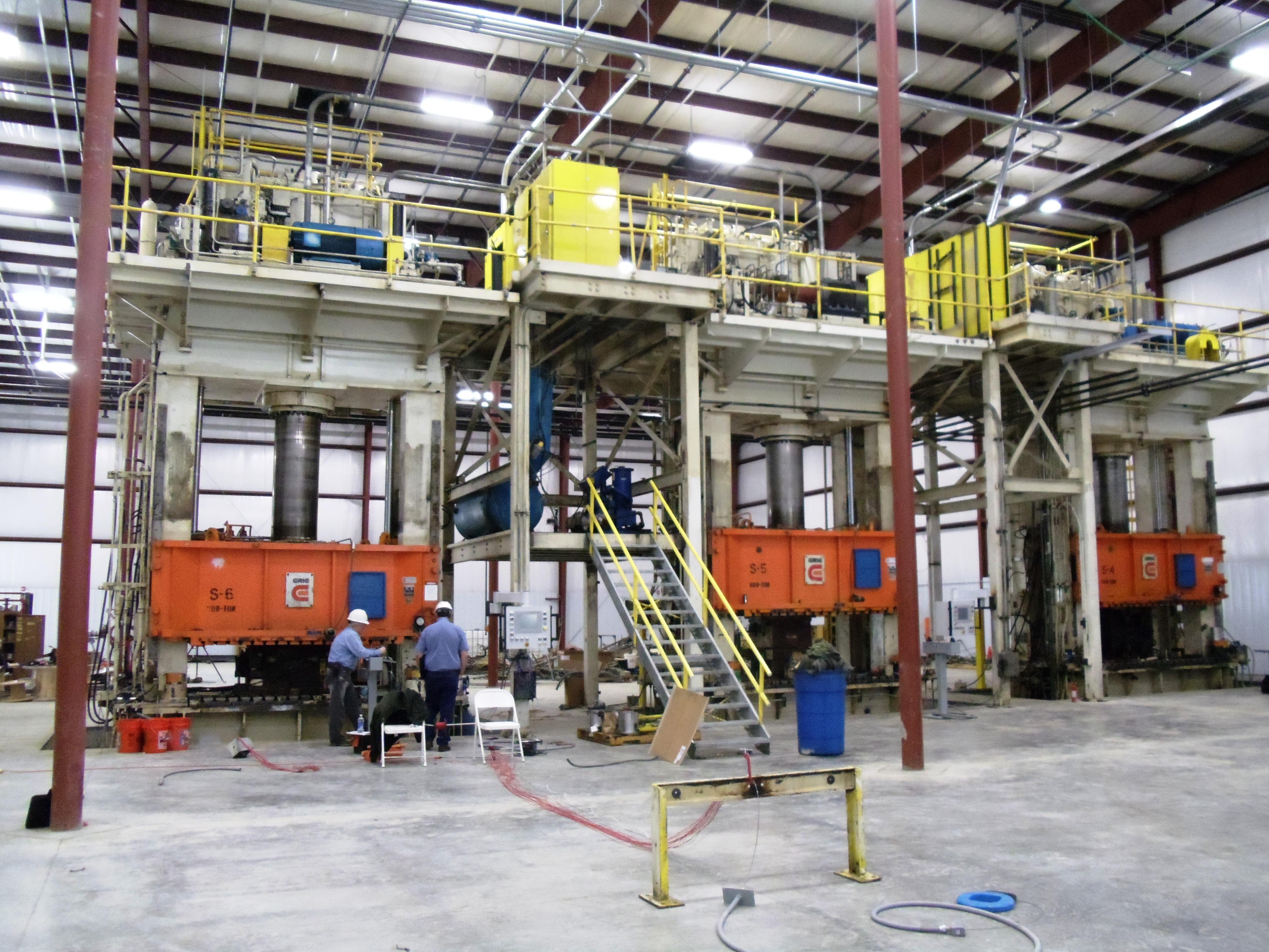 Repair, Upgrade and Relocation - Three Composite Presses