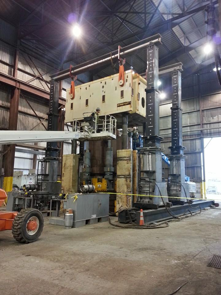 Repair, Upgrade and Relocation 7,800ton SPS Press